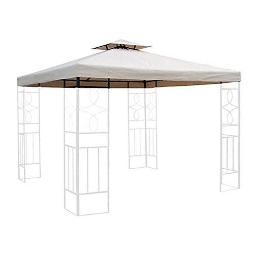Ersatzdach 3x3m in beige wasserabweisend Pavillondach Dach Beschichtung