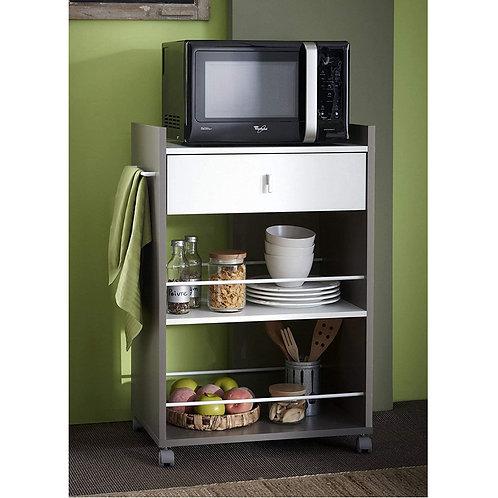 Küchenwagen Basalt #480 mit Weiss Küchentrolley Schublade Küchenschrank