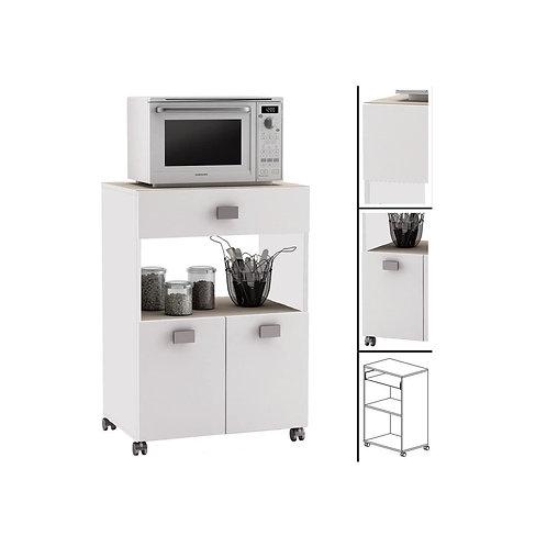 Küchenwagen #145 AKAZIE Weiss Küchentrolley Rollen Schublade Küchenschrank