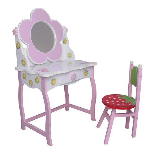Kinderschminktisch (#264) Kindertisch Prinzessin Kinder Mädchen Schminktisch