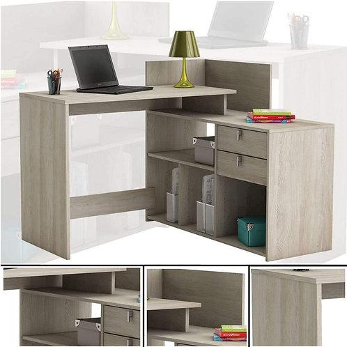 Eckschreibtisch #204 Shannon Eiche Honig Schreibtisch PC-Tisch Bürotisch Tisch