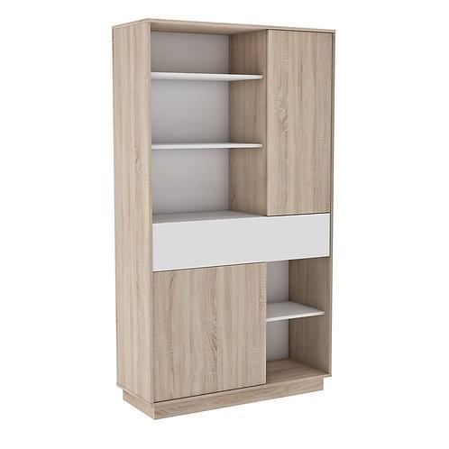 Moderner Küchenschrank #5380 weiß braun Miniküche Küchenzeile Küchenregal