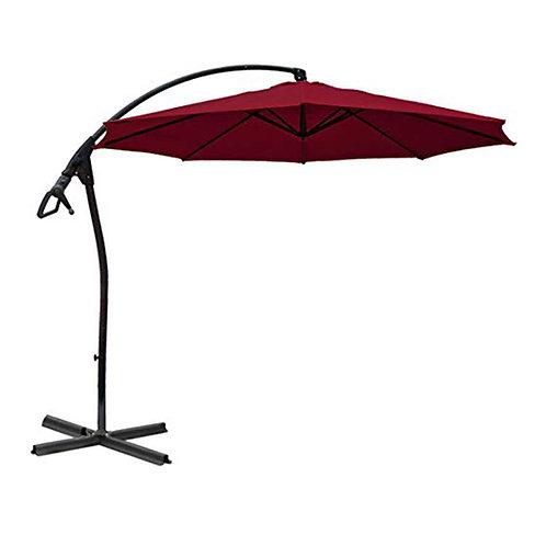 WASSERDICHT Ampelschirm 3m Bordeaux rot durch PVC Schirm 300cm Sonnenschirm
