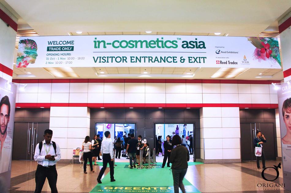 In-Cosmetics Asia, BITEC, Bangkok 31 Oct – 2 Nov 2017