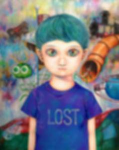 """《Lost》Arcylic 20""""x 24"""""""