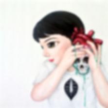 <Listen>, 80 x 80cm Acrylic