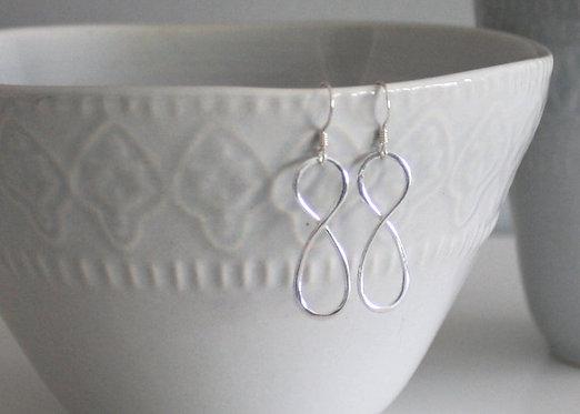 Infinity Earrings, Sterling Silver Belinda Carmichael Jewelry, Infinity Symbol