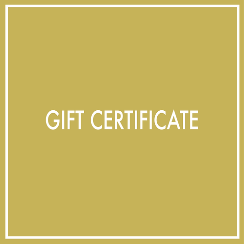 Gift Certificate (Purchased in 2 hour increments)