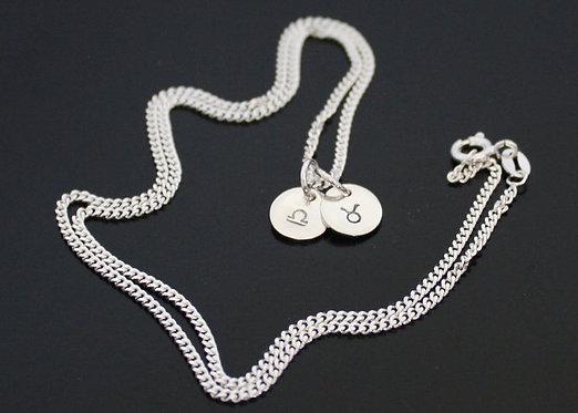 Zodiac Sign Necklace, Astrology Necklace, Horoscope Necklace, Zodiac Necklace