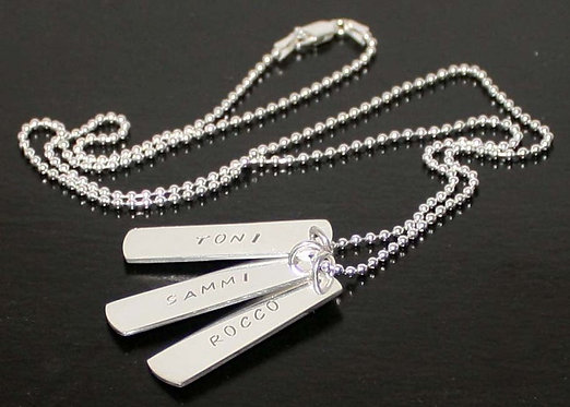 Dog Tags Mens, Sterling Silver, Womens, Personalized
