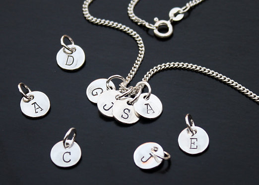 Personalized Initial Necklace in Sterling Silver