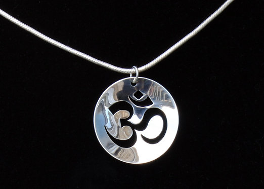 OM Necklace in Sterling Silver