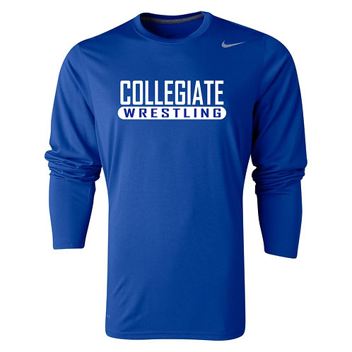 Nike Men's Legend LS Crew Collegiate Wrestling