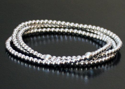 Layered Bracelet in Sterling Silver