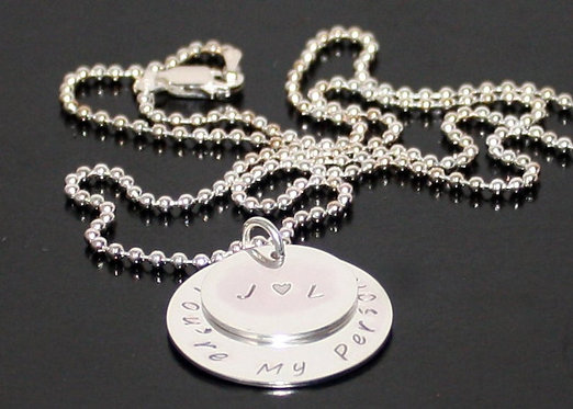 Personalized Sterling Silver Name necklace, kids names pendant Grandchild names