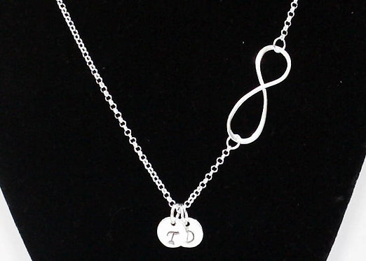 Infinity Necklace, Initials necklace, Personalized Infinity Necklace