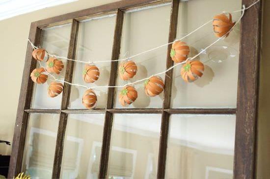 Paint Chip Pumpkin Garland