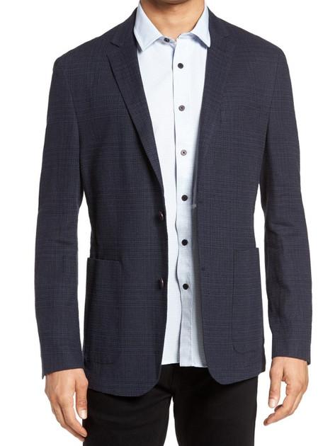 Plaid Linen Blend Jacket