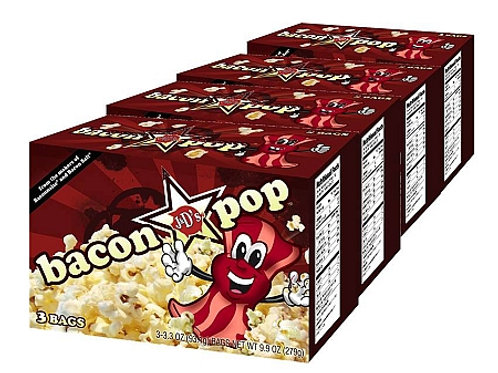 BaconPOP by the case! (6 boxes, 18 total bags)