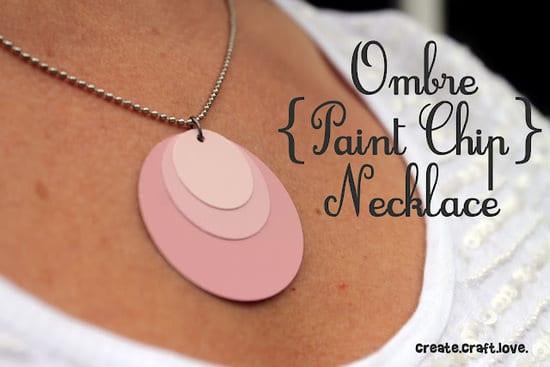 Paint Chip Necklace