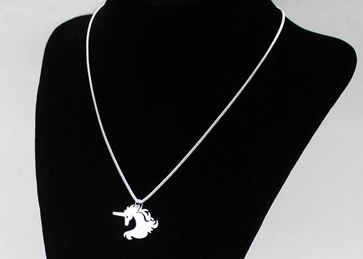 Unicorn Necklace Solid Silver 925 Handmade Unicorn Pendant