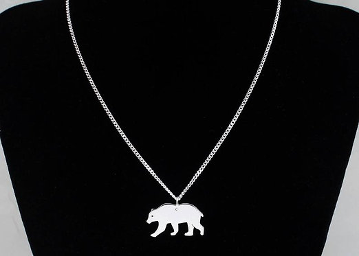 Bear Necklace Solid Silver Mama Bear necklace Brown Bear Black Bear Grizzly