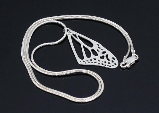Butterfly Wing Necklace in Sterling Silver