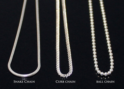 Sterling Silver .925 Chain, Snake Chain, Curb Chain Ball Chain 14 16 18 20 22 24