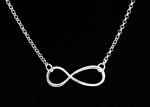 Infinity Necklace FREE SHIPPING in Solid Silver Belinda Carmichael Silver