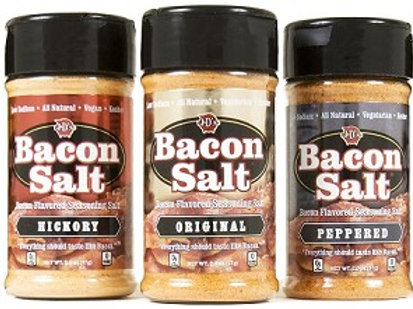 Bacon Salt 3 pack - Original Hickory and Peppered