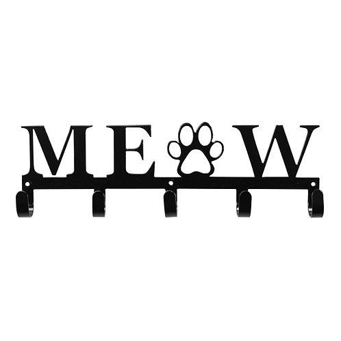 Meow - Metal Key/Leash Wall Hanger