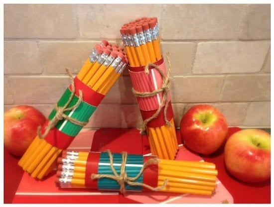 Paint Chip Teacher Gift
