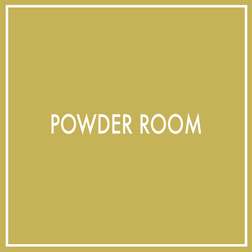 Powder Room (Not Including Technical Plans)