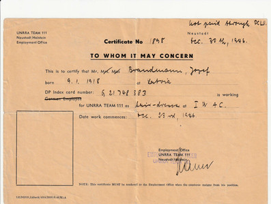 Jospeh Brandman worked in Neustadt Holstein