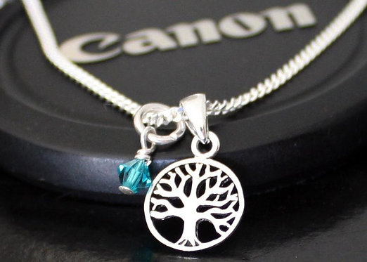 Tree of Life Necklace Tiny Tree Pendant Sterling silver personalized family tree
