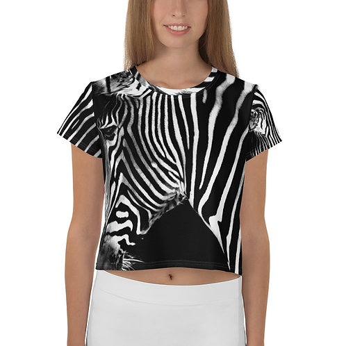 Zebra Mr. Whiskers All-Over Print Crop Tee