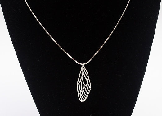 Cicada Wing Necklace in Sterling Silver