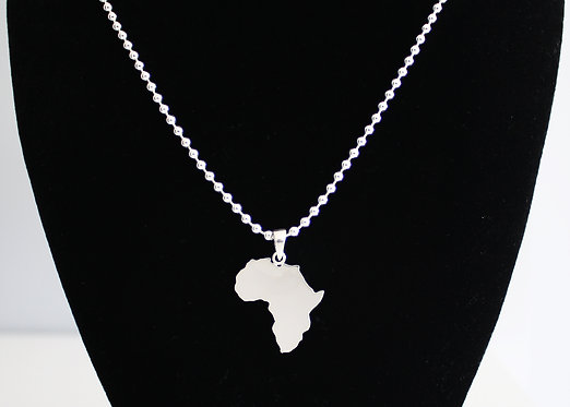 Large Africa Necklace in Sterling Silver