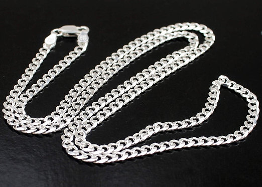 Mens Silver Curb Chain, Sterling Silver Necklace