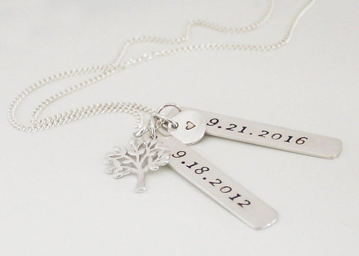 Dog Tag Necklace Womens Bar Necklace