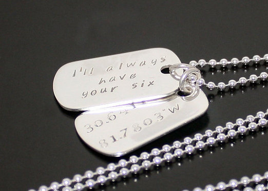 Sterling Silver Dog Tags, Personalized Military Dog Tags, always have your six