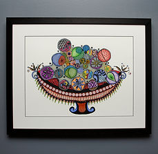 Ornaments in a Bowl framed.jpg