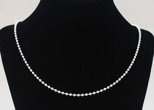 Mens Silver Chain, 3MM Sterling Silver Necklace Sterling Silver Chain Ball Chain
