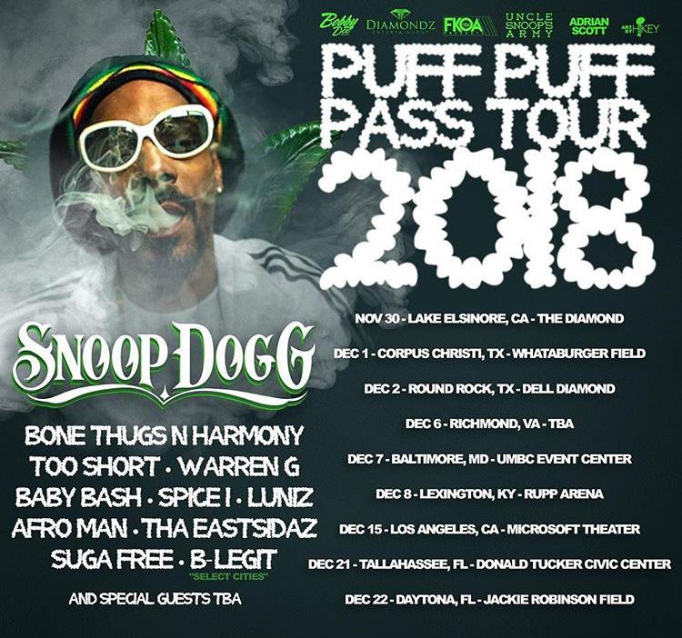 Snoop Dogg: Puff Puff Pass Tour 2018
