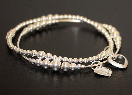 Mother Daughter Bracelets Sterling silver personalized bracelet set