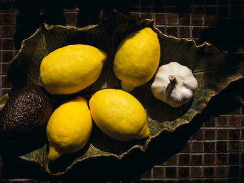 Lemons, Garlic and an Avocado