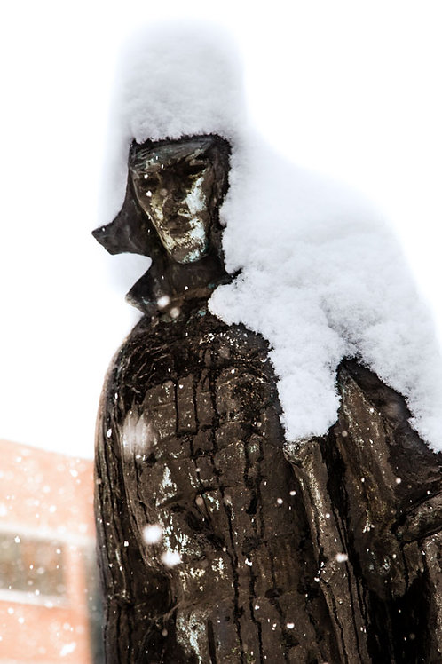 Lone Snow Statue