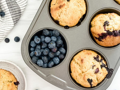 Honey & Greek Yogurt Blueberry Muffins