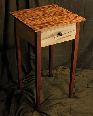 mahogany and maple shaker nightstand