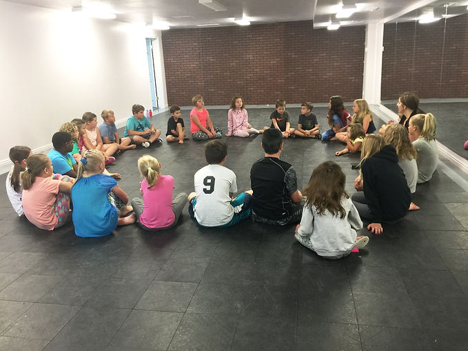 group of students sitting in a circle formation